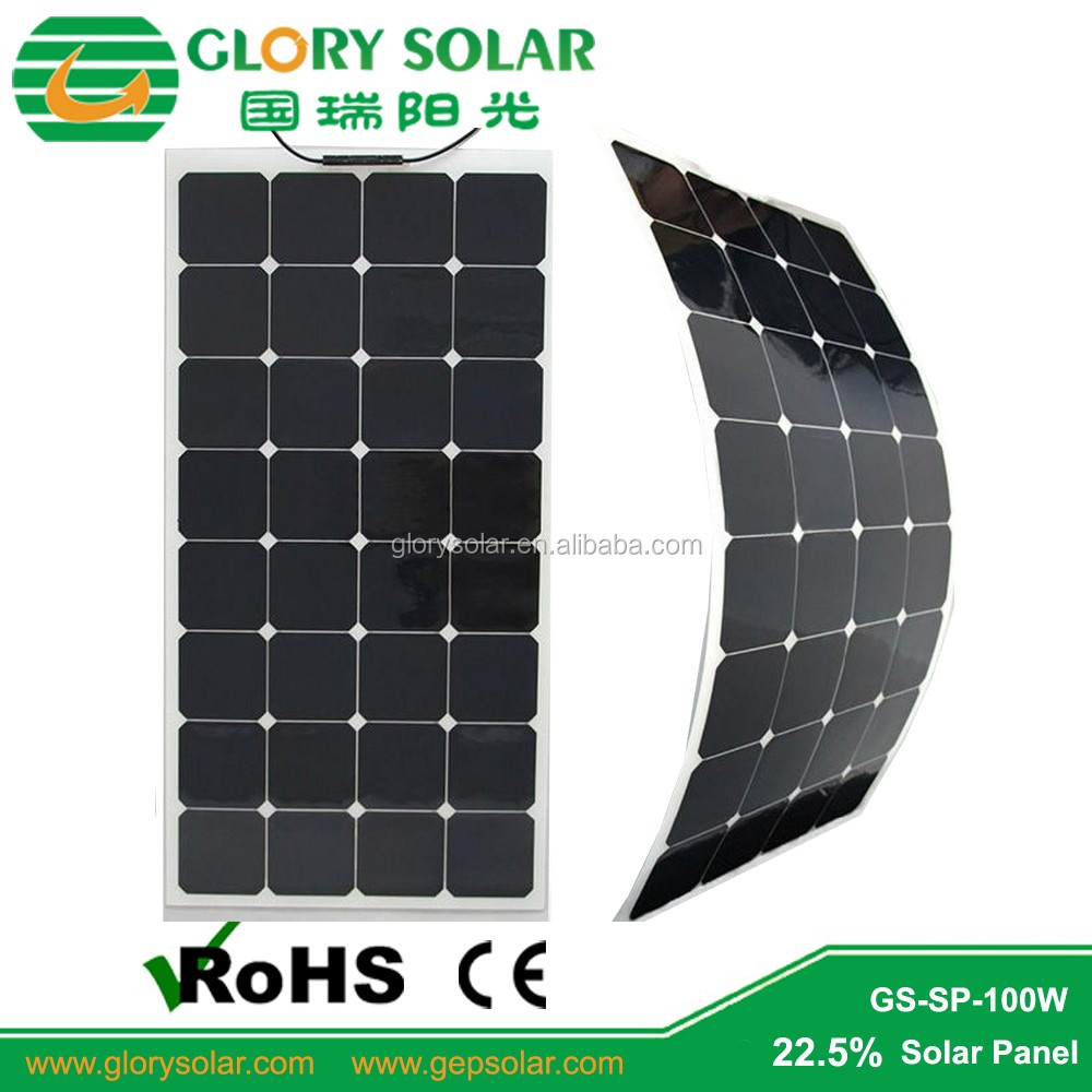 High Efficiency Semi-Flexible 100W Solar Panel for Bimini18V With Higest Quality
