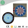 2017 Amazon online cheap price best bikram design yoga non slip round mat
