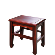 Chinese antique style small solid wood square stool wood chinese square wooden stool