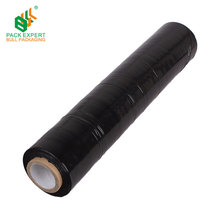 LLDPE black stretch film roll pallet film sealing goods
