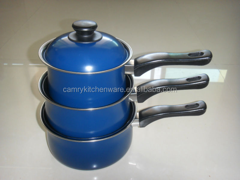 6pc nonstick carbon steel sauce pan set