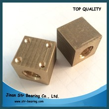 lead screw with trapezoidal thread Tr8 Tr10 with square brass nut