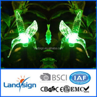 Cixi colored super powered solar hummingbird stake light in garden lights