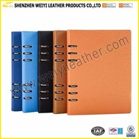 Mini Notebook Loose Leaf Leather Journal Diary Notebook