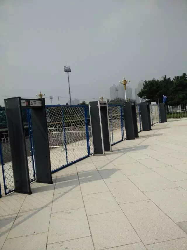 wire and cable detecting equipment LED walk through gate type metal detector price