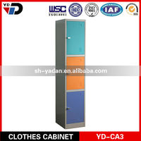 Folding 3 Door Steel Cloth Cabinet Wardrobe/Metal Closet Clothes Cabinet for India market