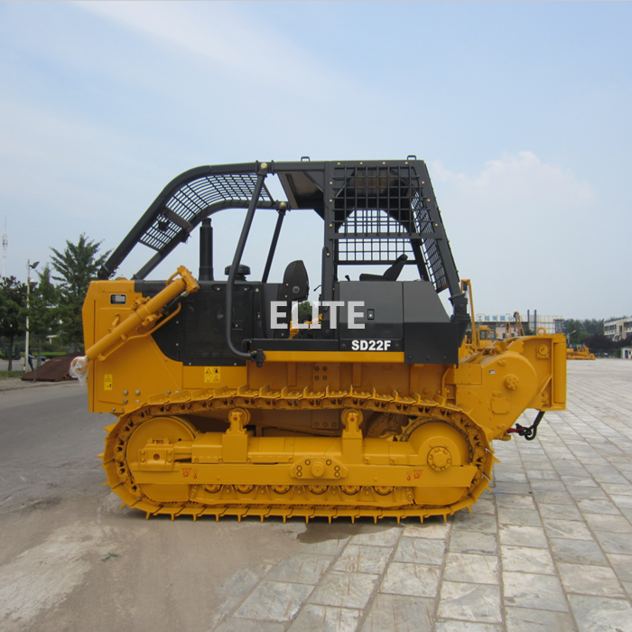 Bulldozer with winch