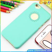 Best Quality Cute candy Color Loving Heart Flower Lace Hard Phone Case Cover For apple iphone 5 5s 4 4S