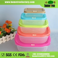Promotional Gift Stackable 5pcs Colorful Plastic