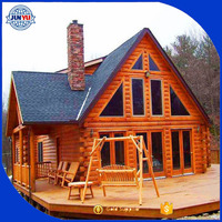 prefabricated house low price Log Material timber house