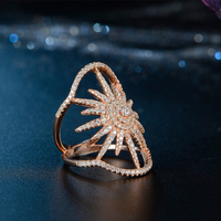 JR0118-2- Noble Jewelry King and Queen Engagement and Wedding Ring Rose Gold Design