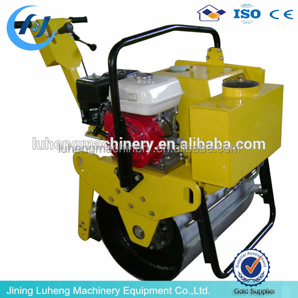 Walk-behind mini Single Drum used road roller with Honda engine skype:sunnylh3