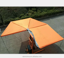 orange color square foxwing car side awning