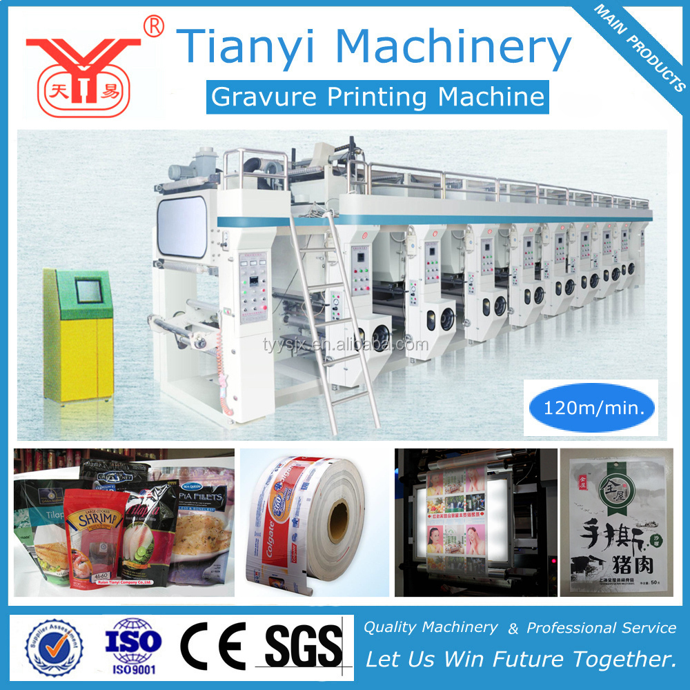 High Quality Plastic Film 9 Color Printing Machine /9 Color Gravure Printing Machine /9 Color Rotogravure Printing Machine