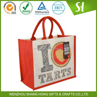 jute material and fancy shopping bag with laminated inside