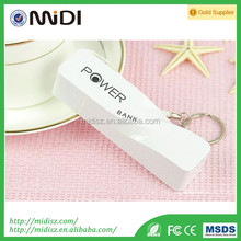 keychain mobile emergency charger perfume power bank 2600mah with cable