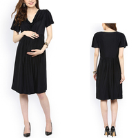 Wholesale Pregnant Clothes Black Tie Maternity