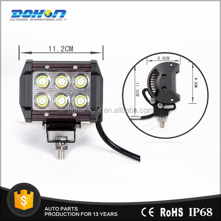 Led Light Bar 18W Epistar Chip Slider Led Work Light Bar Offroad Fog 4WD Truck SUV Flood Driving Lamp