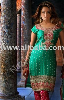 Green & Pink shalwar kameez pakistani indian clothes salwar kameez