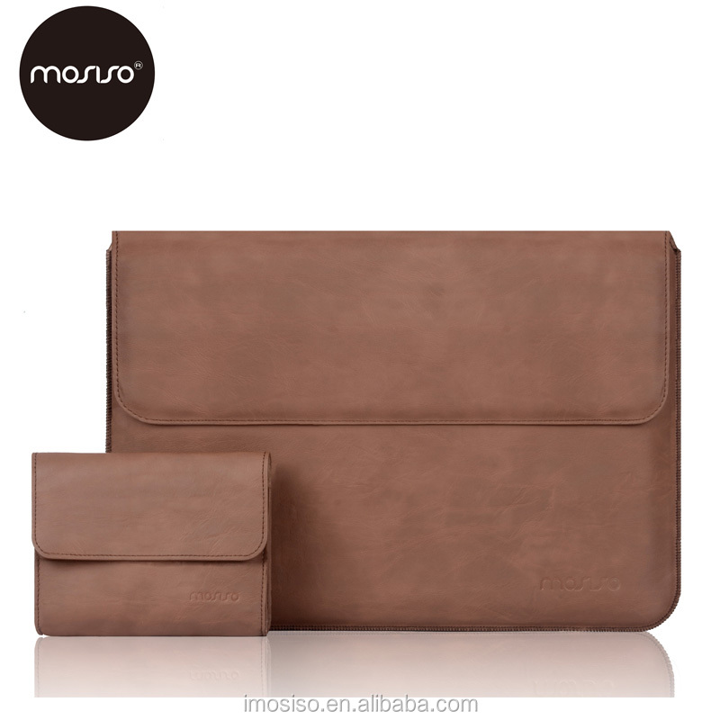 Mens Laptop PU leather sleeve bag slim pu cover skin case for surface pro