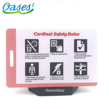Online Shopping Credit Card Size Plastic Punch Qr Code Luggage Bag Tag