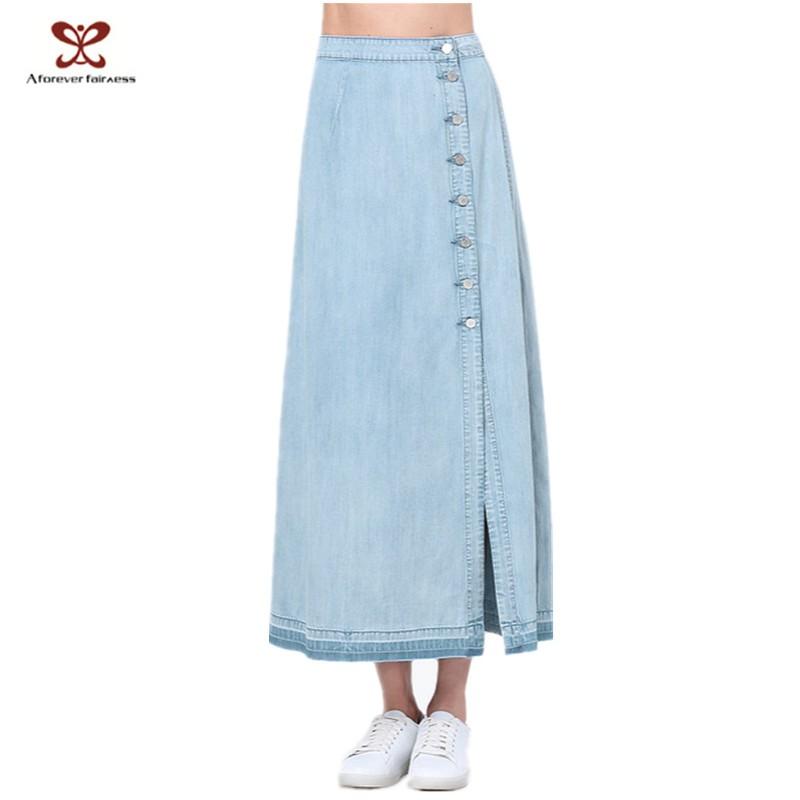 a forever fairness wholesale denim maxi skirt