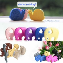 Wholesale food grade silicone chewable bulk plastic animal toys