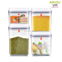 Promotional gifts wholesale food grade eco-friendly plastic airtight canister set