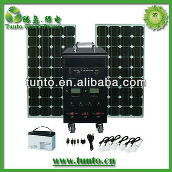 200w Portable Solar Generator 240V with External Battery