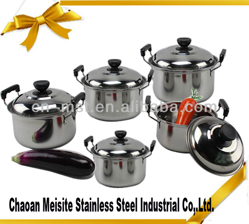 10 pcs stainless steel cooking stock pot