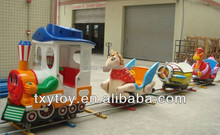 Amusement park Playground Equipment Guangzhou factory derect hot sale animal electric outdoor train sets