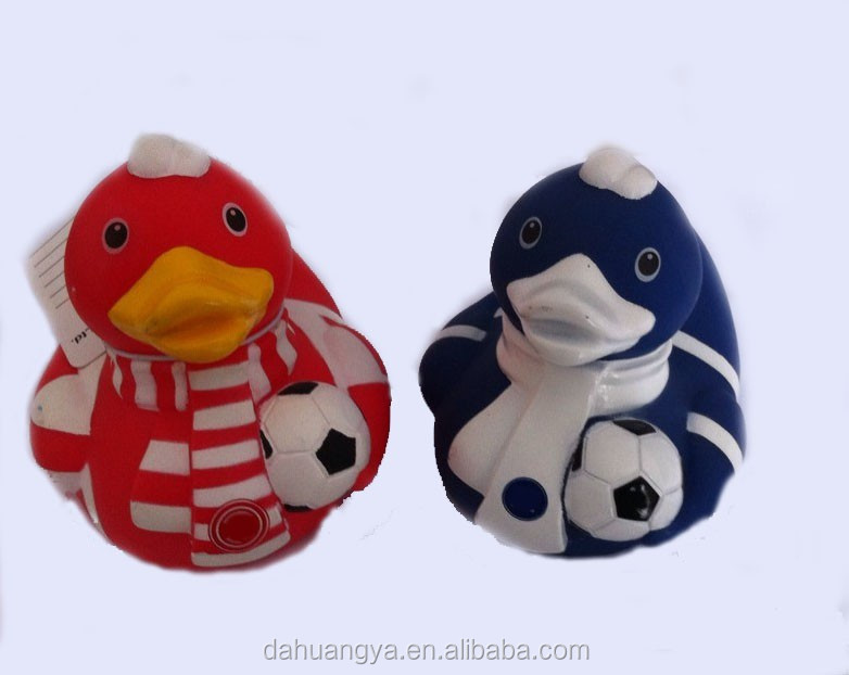 Soccer Club Toy Rubber Duck Toys