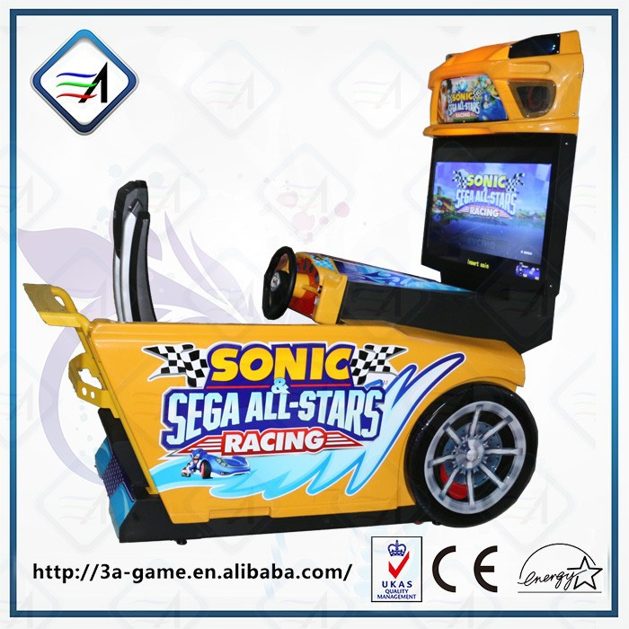 2 Player Racing Game Coin Operated Sonic Simulator Racing Video Games