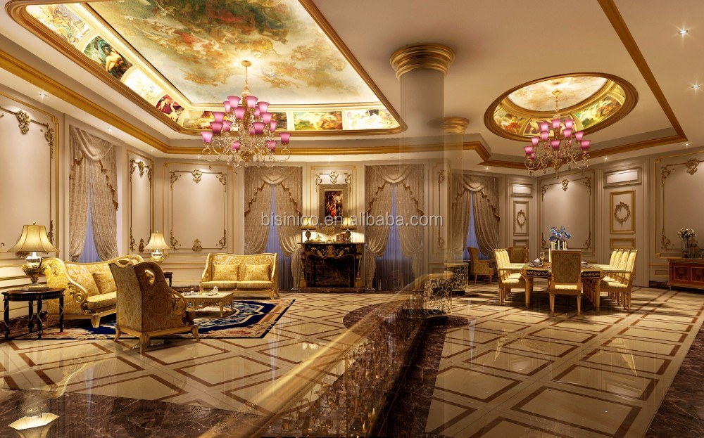 Luxurious European Residential Villa 3D Architectural And Interior Rendering And Complete Furniture