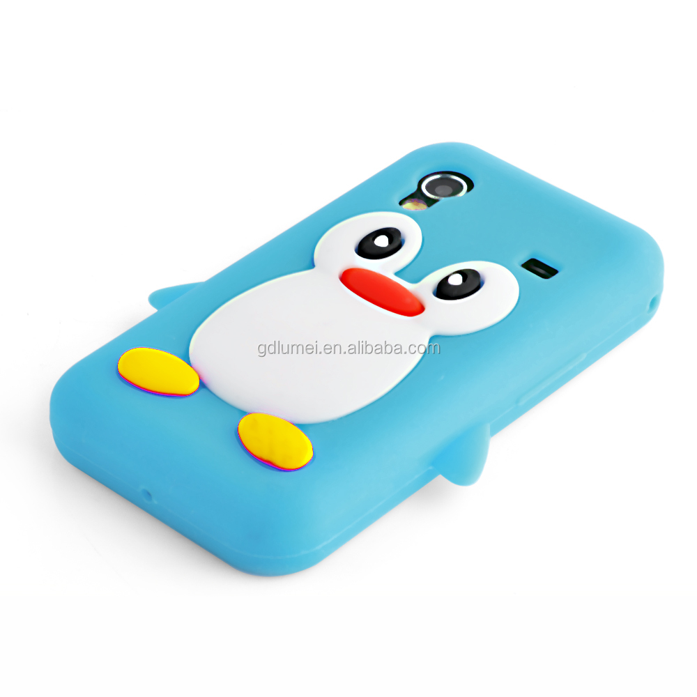 Wholesale Universal Cute Cartoon Design Silicone Gel Case Cover For iPhone 4s/5/ Samsung