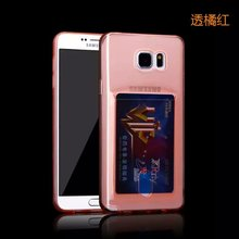 Multi-function ID card case for Samsung S6 edge mobile parts / for Samsung S6 edge G9250 TPU phone case customize available