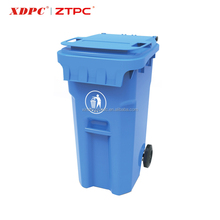 Factory Selling Directly Color Customize Large Plastic Waste Bins With Wheels
