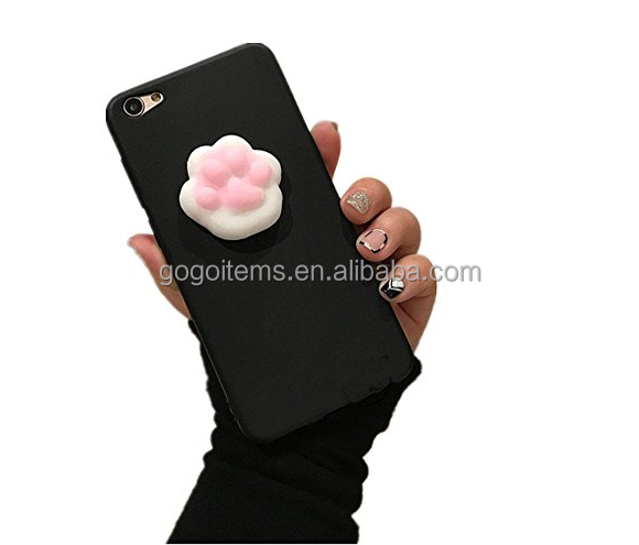 lovely sea lion pink OEM custom mobile 3d cell tpu squishy phone case for apple iphone 7
