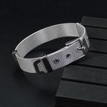 Wholesale 8mm 10mm mens 316L stainless steel wrist watch bracelet belts for men women steel bracelets for watch replacement