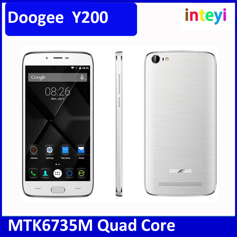 New 5.5 Inch Doogee Y200 4G LTE Mobile Phone 2G RAM 32G ROM 13.0 MP Smartphone Android 5.1 MTK6735M Quad Core Cellphone
