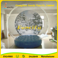 Durable Inflatable Snow Globe/Huge Inflatable Show ball for Christmas Decoration/Human Snow Globe for taking photos inside