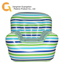 Custom stripe printed single inflatable sofa for sale