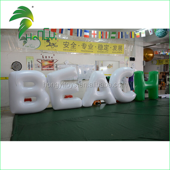 Lighting Up Led Inflatable Alphabet Letter Models / Custom Air Octopus / Advertising Led Light for Party Decoration Display