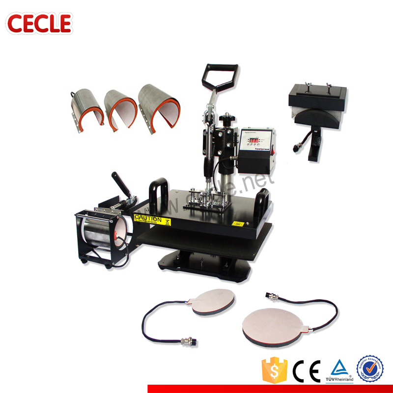 Multipurpose ce certified cheap used t shirt heat press machine