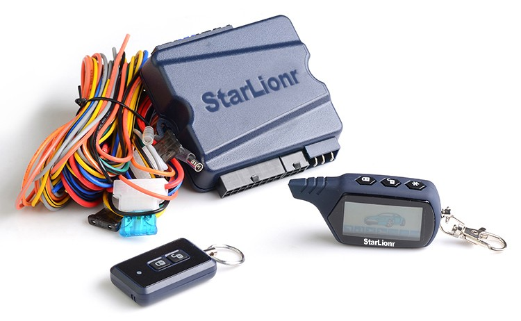 Starlionr A61 Dialog 2 way car alarm system with LCD remote for Russia Ukraine market