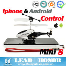 LH1210 3CH iPhone/iTouch/iPod u-control silver bullet mini rc helicopters