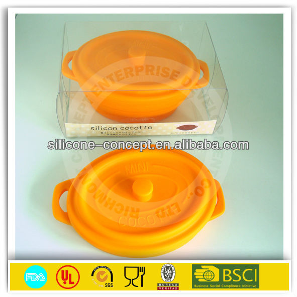 FDA microwave folding silicone bowl