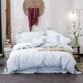 100% Stone Washed Linen Solid Color Basic Style King Queen Twin Full Duvet Cover Sets