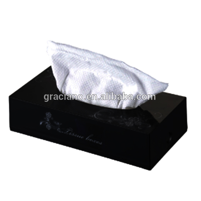 JN8501B Black Decorative Fancy Public Car Wholesale wall mounted Plastic Facial square Tissue Paper Box
