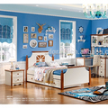 2017High quality latest children bedroom furniture made by E1 MDF board for kids